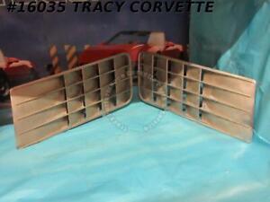 1970-1972 Corvette Front Fender Louver Grille 3995017 3995018 Excellent Original