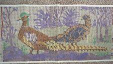 Vintage, Shillcraft/Readicut, Latch Hook Canvas . Pheasants  22 x 43   New