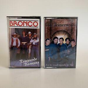 Los Temerarios & Bronco Cassette lot 2 Tapes New Sealed