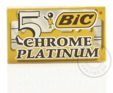 BIC Chrome Platinum Double Edge (DE) Razorblade - 5 Blades (1 pack)