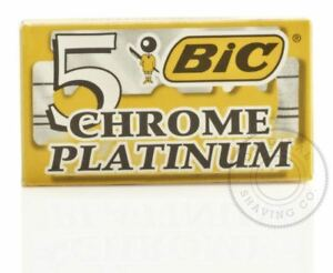 BIC Chrom Platinum Doppel Rand (De)Razorblade - 5 Klingen (1 Pack 5)