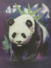 Poster Print 3d picture of a panda mother and her twin cubs, great for Home P093