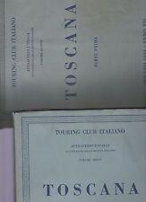 touring club italiano - CTI - attraverso l italia - toscana - 2 volumi