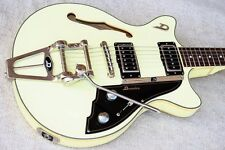 Duesenberg Guitars | Duesenberg Fullerton TV Double Cutaway Vintage White Guitar