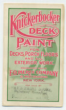 Knickerbocker Deck Paint sample folder