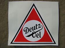 Deutz Oel Aufkleber Schlepper Tankstelle Tanksäule Oeldose Oelkanister 30 cm gut