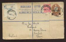 La Nouvelle Zélande enregistrés 1933 papeterie CASTLECLIFF 4D sur 6D + 1d + étiquette