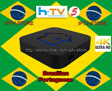 2017 Newest HTV5 Brazilian Portuguese 4K UHD IPTV Internet Live Brazil TV Box
