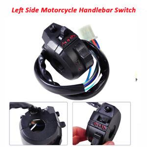 "Motorcycle 7/8"" Handlebar Horn Headlight Turn Signals Light Control Left Switch"