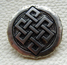 Auffällige Ziernieten Celten Knoten Budah Knoten Wikinger Farbe Altsilber Neu