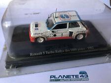 HACHETTE ELIGOR RENAULT 5 TURBO RALLYE DES 1000 PISTES 1982 1/43