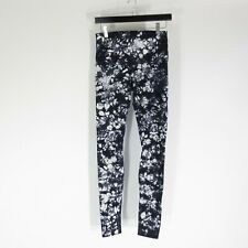 M - Lululemon Womens Black & White Tie Dye Wunder Under Leggings Pants 1111VB