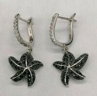 orecchini da donna argento zirconi pendenti stella pendente GIOIELLO ITALIANO