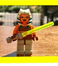 LEGO STAR WARS CLONE AHSOKA GENUINE AUTHENTIC MINIFIGURE w/ LIGHTSABER JEDI