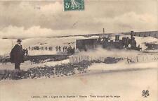 CPA 48 LIGNE DE LA LABASTIDE A MENDE TRAIN BLOQUE PAR LA NEIGE (TRAIN BEAU PLAN