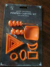 Deluxe Kit 9 herramientas de talla de calabaza de Halloween Truco O Terror