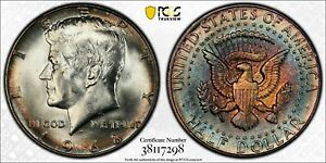 1968-D KENNEDY HALF DOLLAR PCGS MS65 HIGH GRADE BU UNC SILVER COLOR TONED
