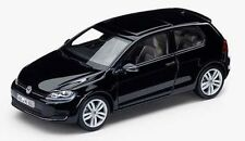NEW GENUINE VW GOLF MK7 2 DOOR DEEP PEARL BLACK 1:43 SCALE DIECAST MODEL CAR