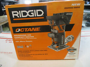 Ridgid R860443B 18V Lith-Ion Brushless Compact Router Bare Tool