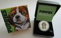 Tuvalu 50 Cents 2018 Puppies Beagle 1/2 Oz Silber