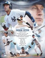 DEREK JETER CAPTAIN CLUTCH NEW YORK YANKEES UNSIGNED 8x10 PHOTO