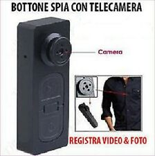 BOTTONE MICROCAMERA SPIA CIMICE VIDEO FOTO SPY CAM NASCOSTA MICRO CAMERA SC0