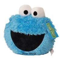 Cookie Monster Blue Cushion Sesame Street Cute 3D Home Pillow Decor Gift Primark