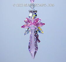 m/w Swarovski Big Breast Cancer Butterfly Angel Suncatcher Lilli Heart Designs