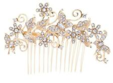 Rhinestone Gold Butterfly Wedding Hair Comb Hair Pins Girl Hair Jewelry NEW