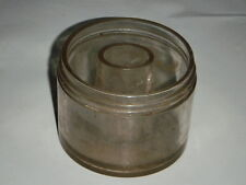 ANTIQUE CLEAR GLASS PASTE JAR 534 INNER WELL PATENT USA ENGLAND CANADA YEAR 1899