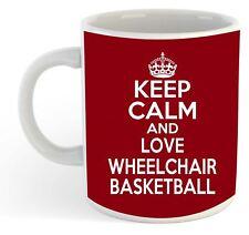 Keep Calm And Love Wheelchair Basketball  Mug - Maroon