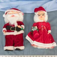 "Vintage Christmas Santa & Mrs. Claus Set 16"" High dq"