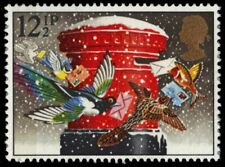 """GREAT BRITAIN 1035 - Christmas """"Birds Mailing Cards"""" (pb19722)"""