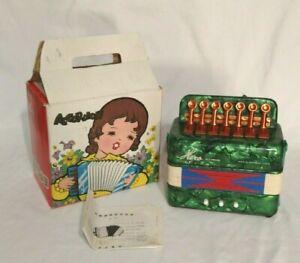 Vintage Toy Accordion~Hero~Green-Squeezebox