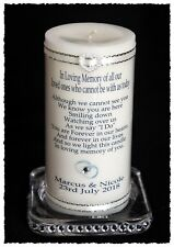 "Wedding Day Absence candle for those who cannot be there Large 6"" inch (15cm )#8"