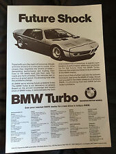 BMW TURBO Original Future Shock Brochure Ad 2002 2002Tii Bavaria 3.0 Coupe