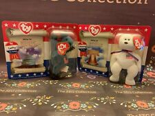 TY Beanie Babies Lot of 2 Patriotic Liberty and Lefty 1996 Mcdonalds NIP
