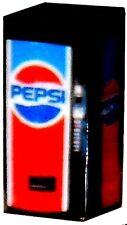 O Scale LIGHTED Vending Machine 1/48 Old Style Pepsi Machine - Illuminated
