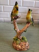 "Chelsea House BIRDS Bone China Figurine Made in Italy Gorgeous NWOT 7 1/2"" Tall"