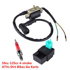 12V Ignition Coil+5 Pin CDI+Spark Plug For Chinese ATV Quad 50 70 90 110 125cc