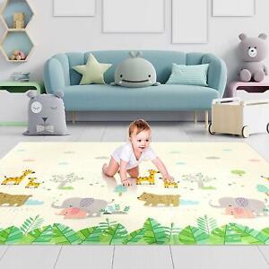 Baby Play Mat Foldable Playmat Extra Large Foam Mat Reversible Baby Crawling Mat