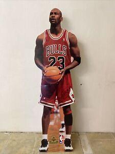 "1998 Upper Deck MICHAEL JORDAN Life-Size 6-6"" Cardboard Stand Up Display Poster"