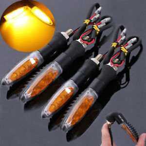 4X LED Indicator Turn signal flasher Orange lens HUSABERG FES 600 FX 650 FE 501