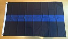 Thin Blue Line 3' x 5' Police Flag with brass grommets Free Shipping!