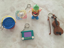 Lot Of 5 Vintage Miniature Key Chain Games - Toys