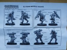 Forgeworld NEW NIB Elysian Missile Squad Drop OOP Imperial Guard  Warhammer 40k