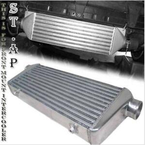 "31""X11.5""X3"" Fmic Bar & Plate Front Mount Turbo Aluminum Intercooler Chrome"