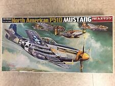 1/24 Bandai North American P51D WWII Mustang Fighter Plastic Model Kit
