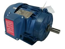 A.O. SMITH 1.5 HP 3600 RPM TEFC 200/230/460 VOLTS 143T 3 PHASE MOTOR NEW SURPLUS