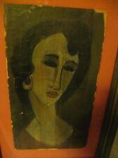 "Portrait of Jeanne Hebuterne Attributed Modigliani 18"" x 10"""